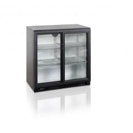 klaasliugustega baarikülmkapp