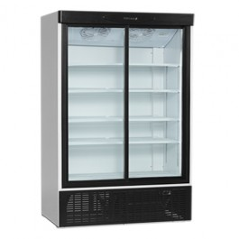 FS1202S, klaaslükandustega külmkapp