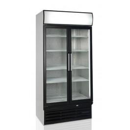 FSC1000H, hingedel klaasuste ja reklaamvalguskastiga külmkapp