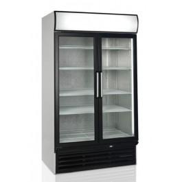 FSC1200H, kahe hingedel klaasukse ja reklaamvalguskastiga külmkapp