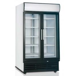 FSC1950H, kahe hingedel klaasuksega külmkapp
