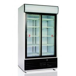 FSC1950S, klaaslükanuste ja reklaamvalguskastiga külmkapp